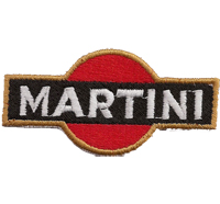 Martini Aperitiv Club Racing Motorsport Schürze Schild Aufnäher Patch